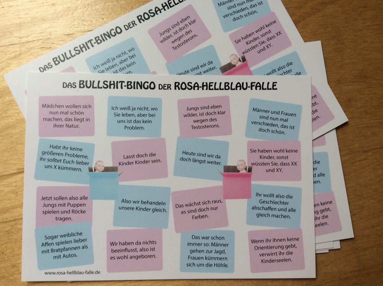 Das Bullshitbingo der Rosa-Hellblau-Falle